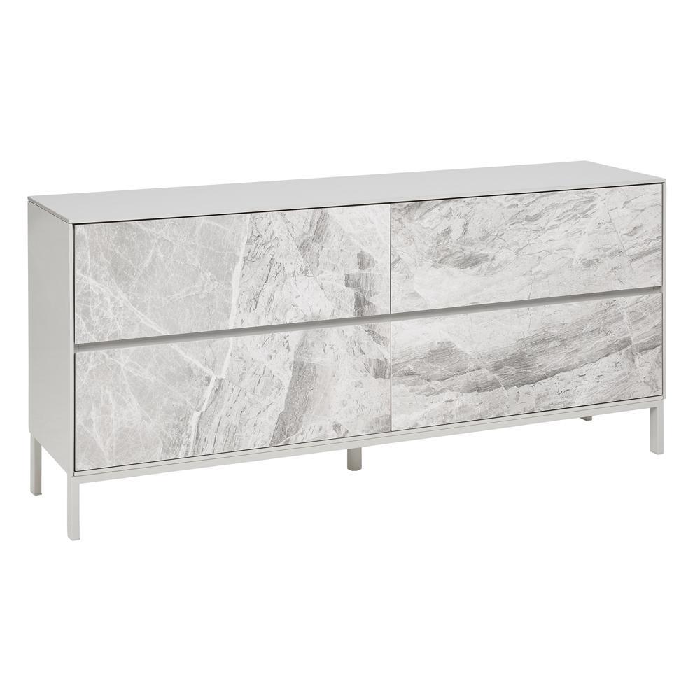 Avant sideboard light grey marble ceramic