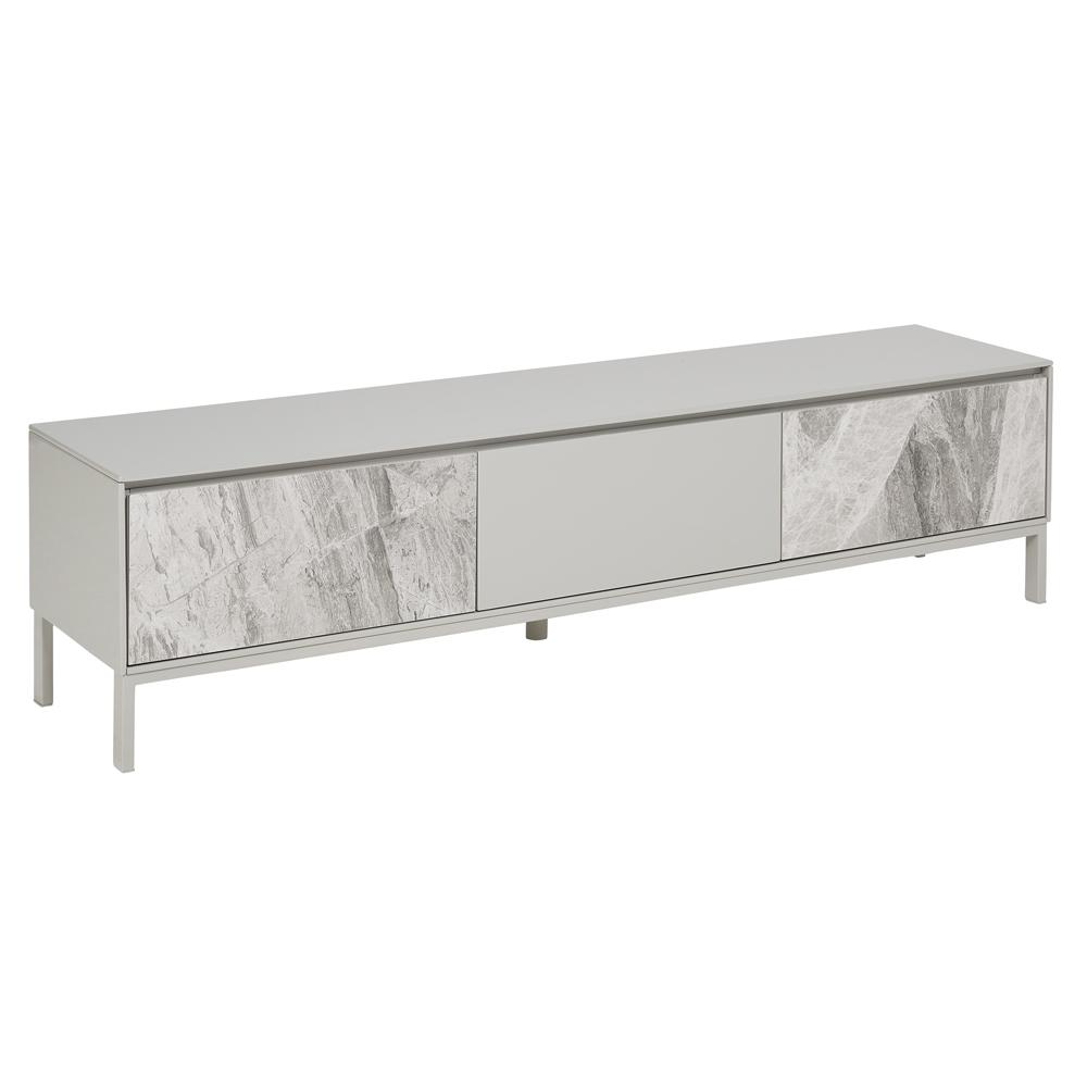Avant TV unit light grey marble ceramic