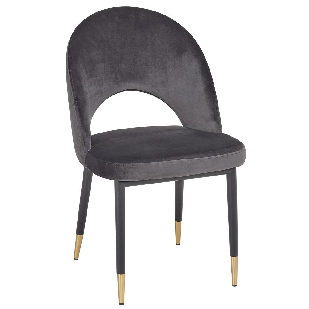 Comida dining chair grey velvet