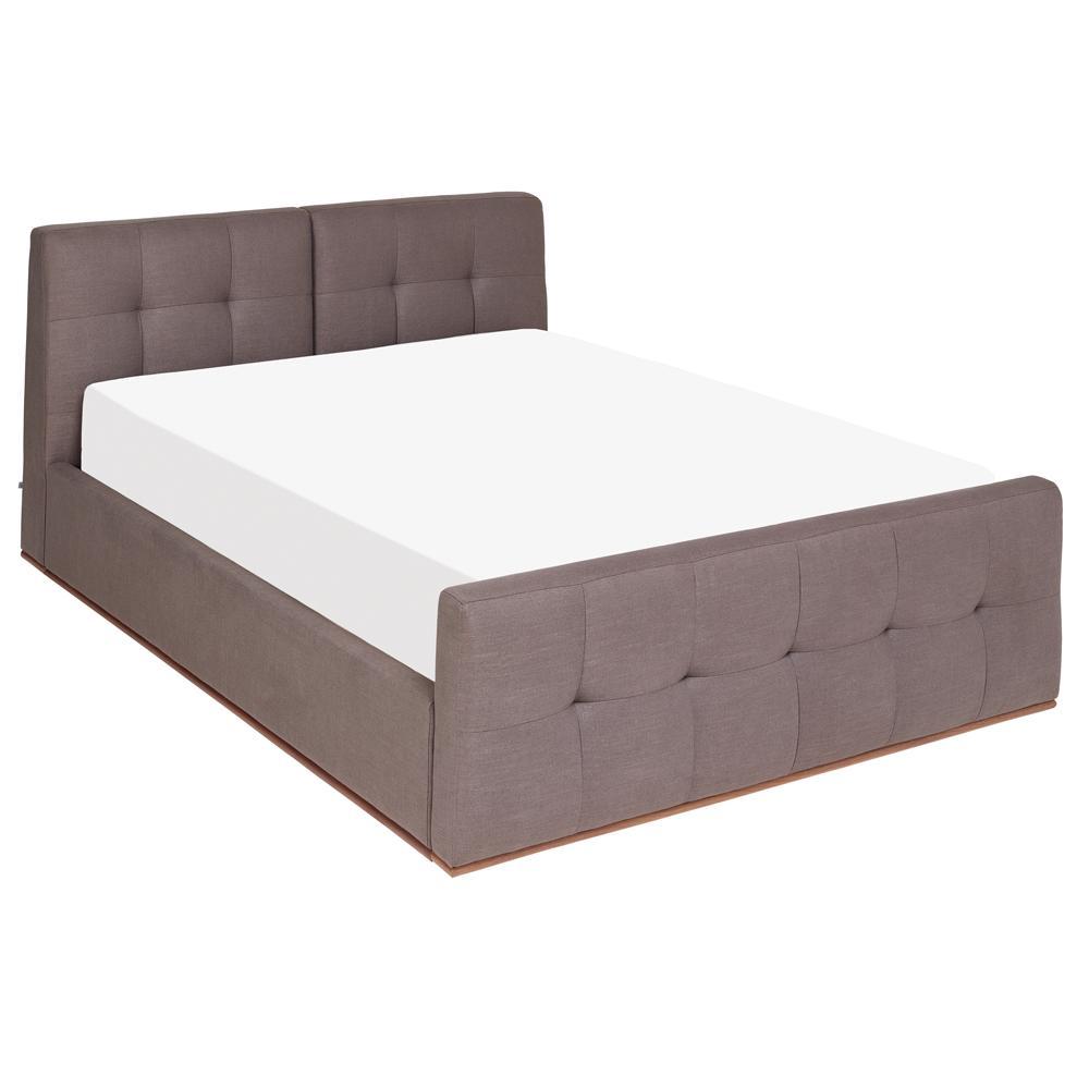 Marseille II storage bed grey double
