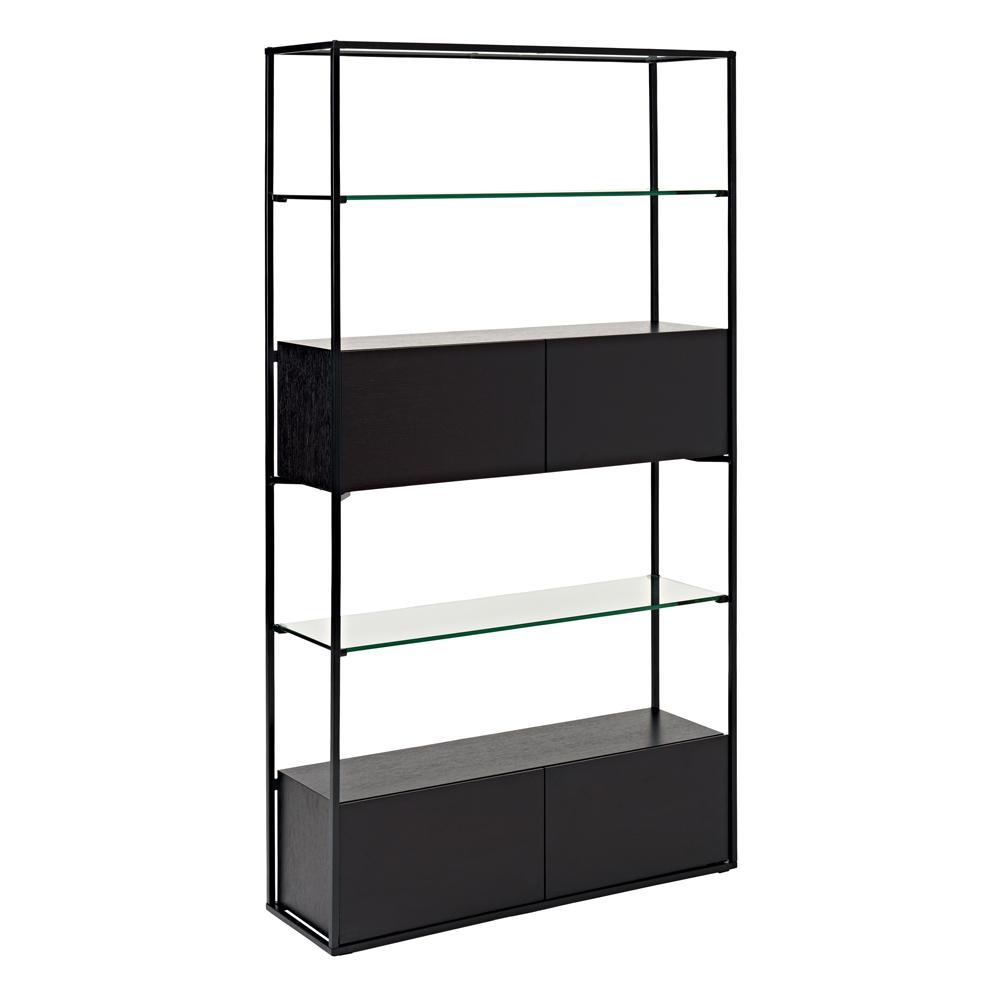 Divario shelving bookcase darkwood