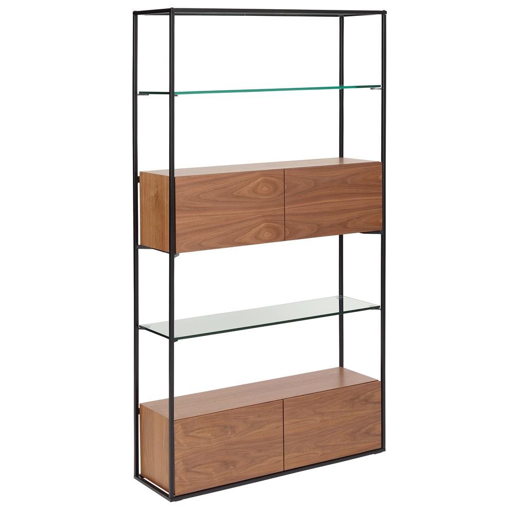 Divario shelving bookcase walnut