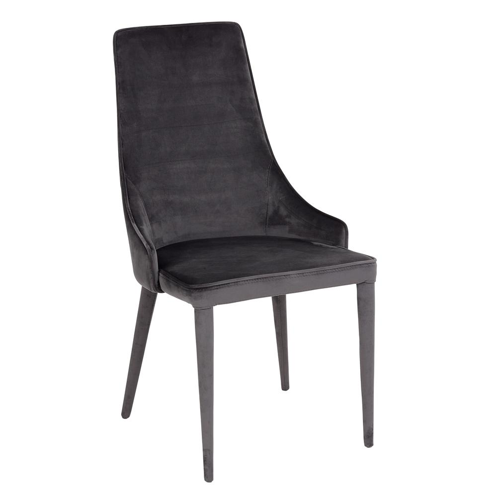 Sottile dining chair grey velvet
