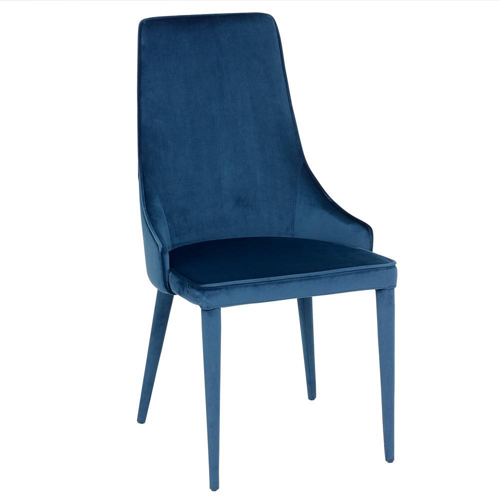 Sottile dining chair blue velvet