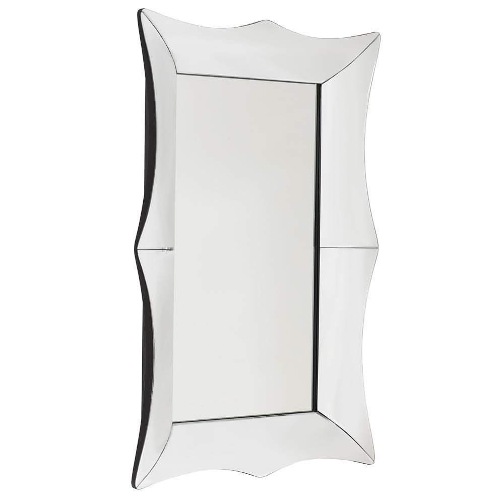 Pettine medium wall mirror silver