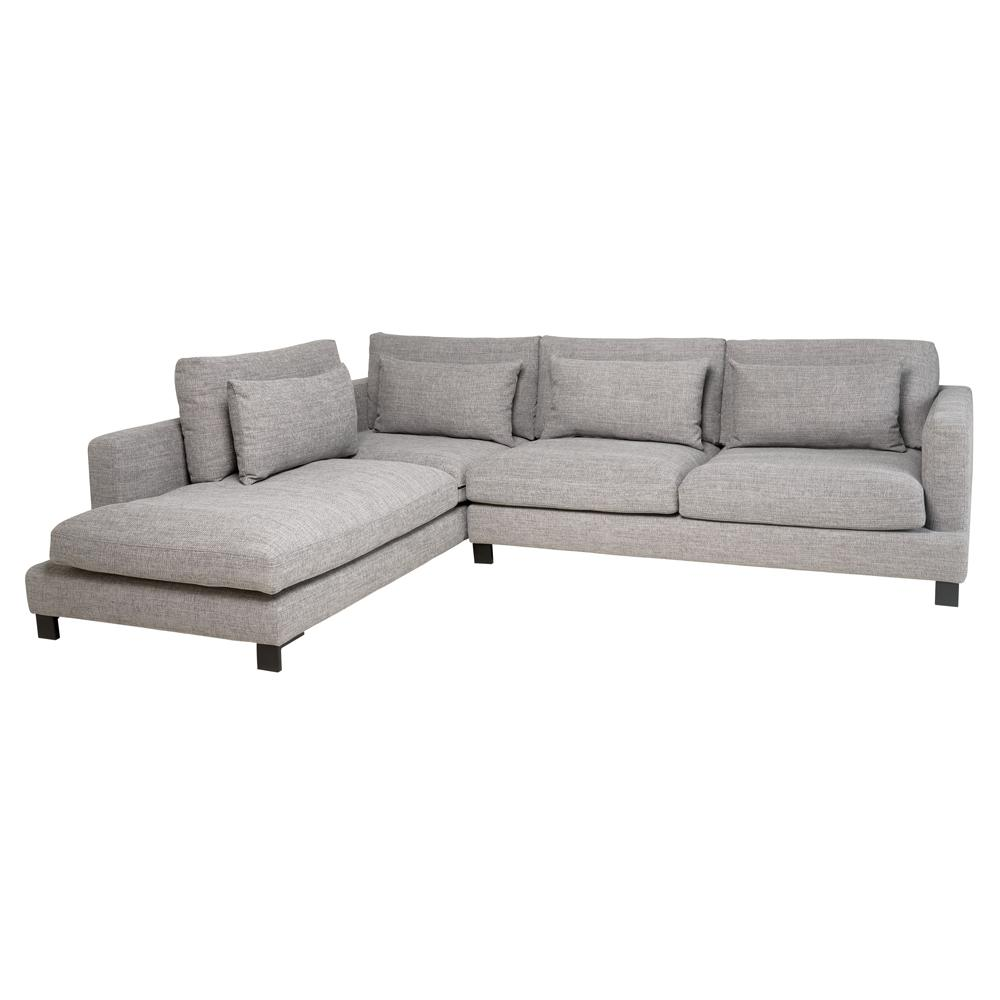 Lugano II right hand facing arm corner sofa callida grey