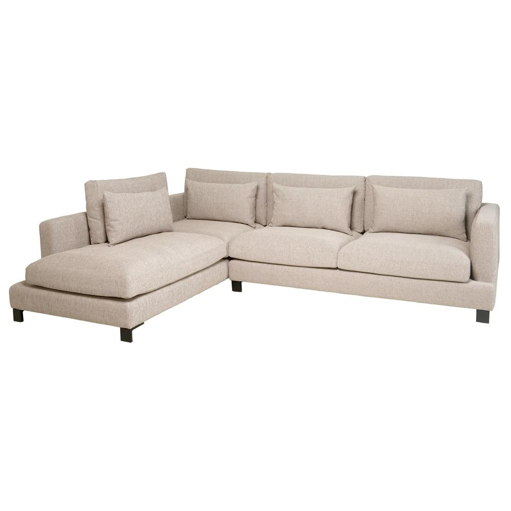 Lugano II right hand facing arm corner sofa callida sand
