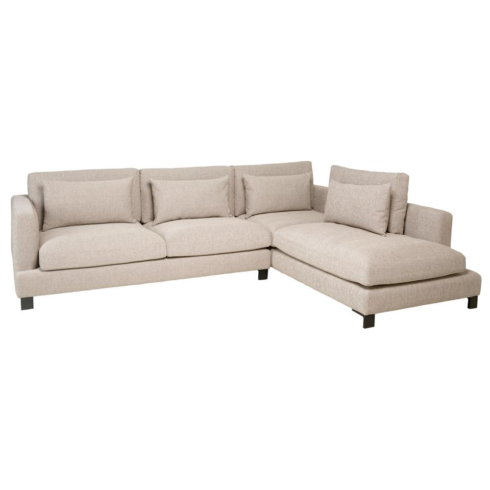 Lugano II left hand facing arm corner sofa callida sand