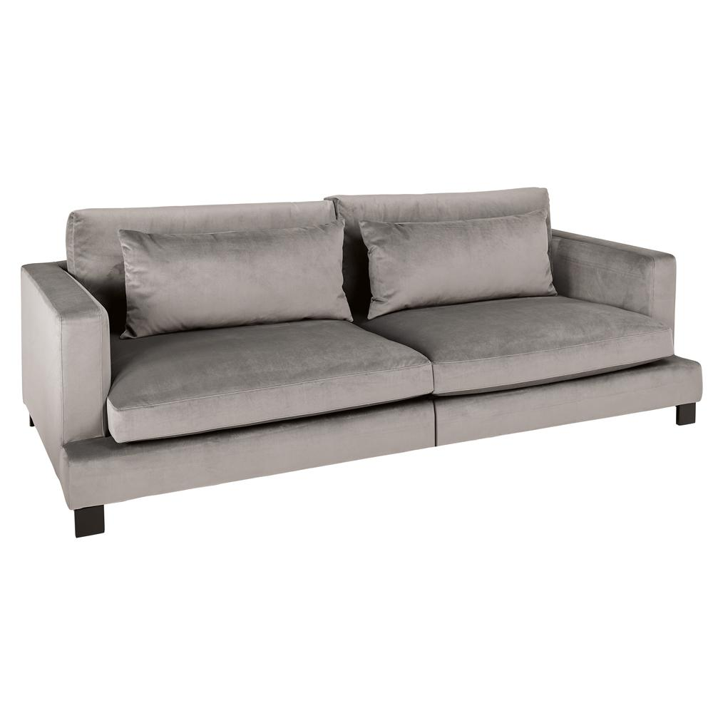 Lugano II four seater sofa alba velvet grey