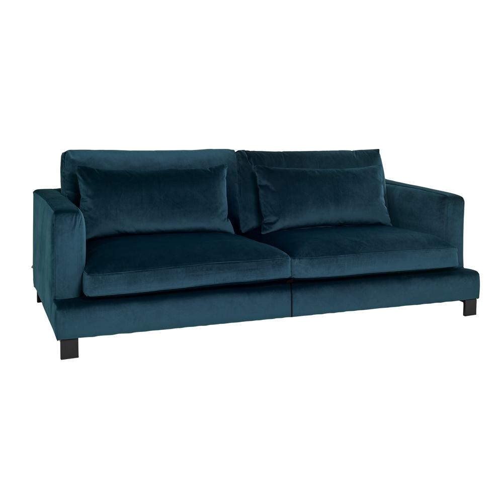 Lugano II four seater sofa alba velvet blue