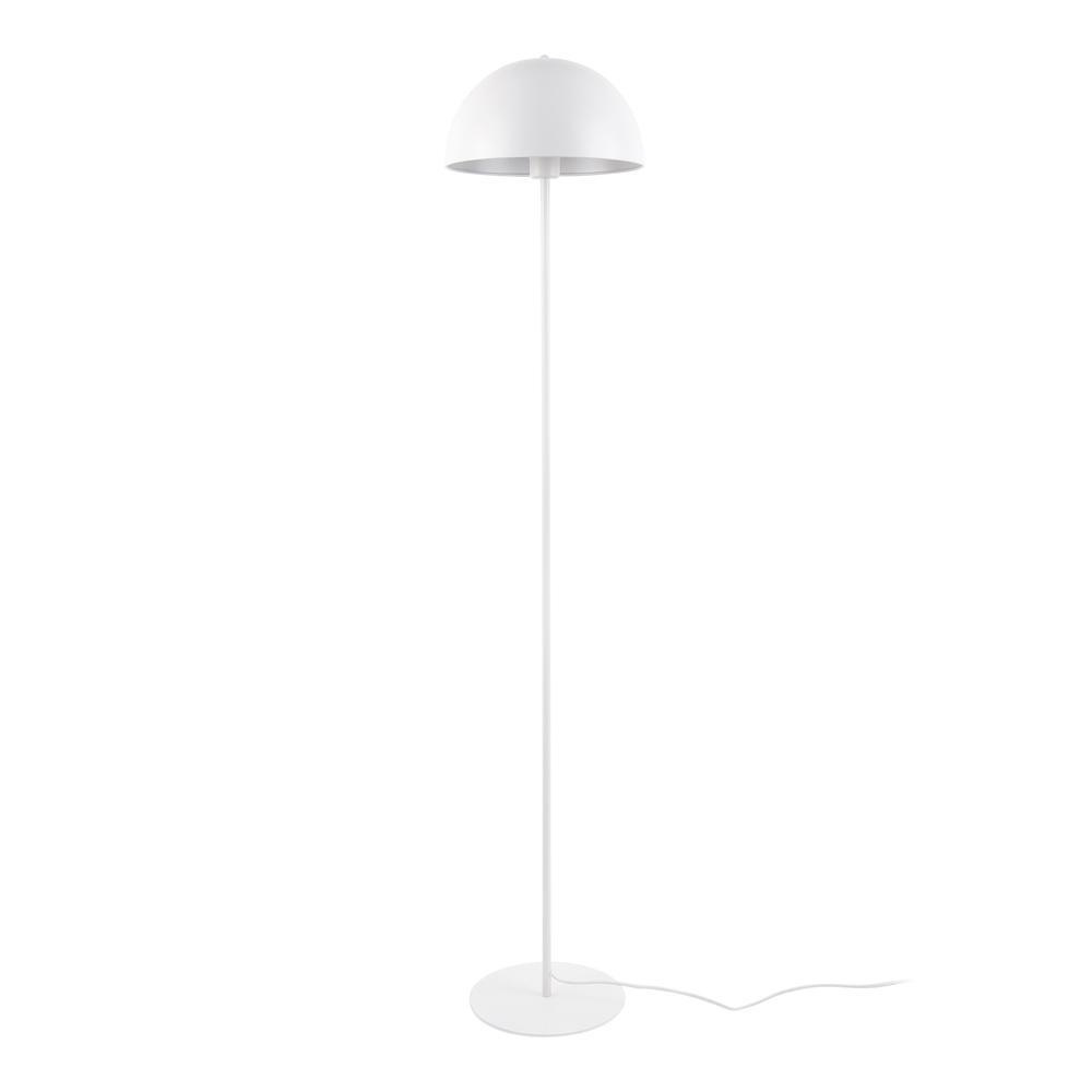 Bonnett floor lamp white metal