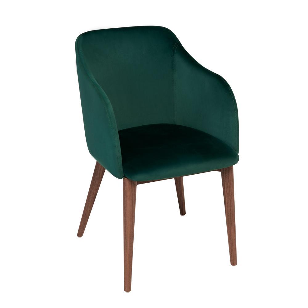 Dip dining chair green velvet