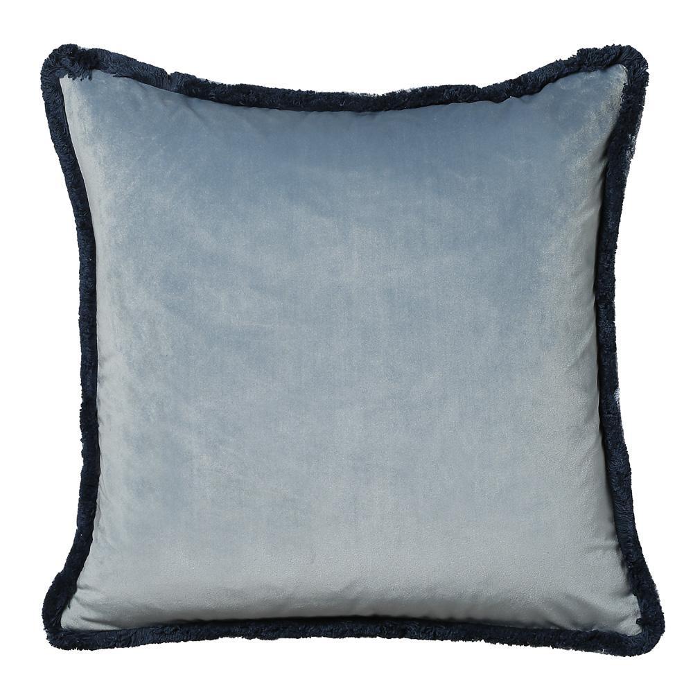 Contrast cushion tassel navy velvet