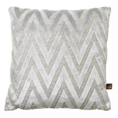 Geometrico grey velvet cushion