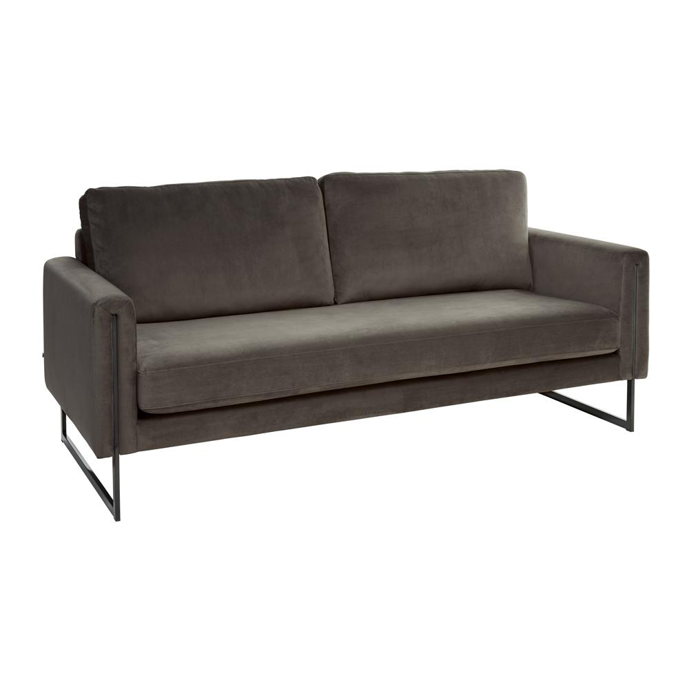Bruges three seater sofa alba velvet grey