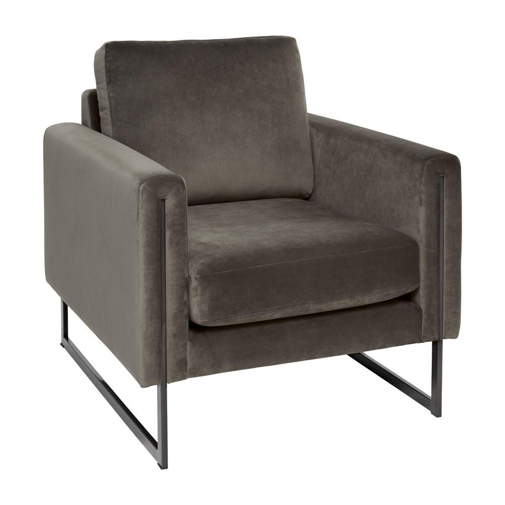 Bruges armchair alba velvet grey