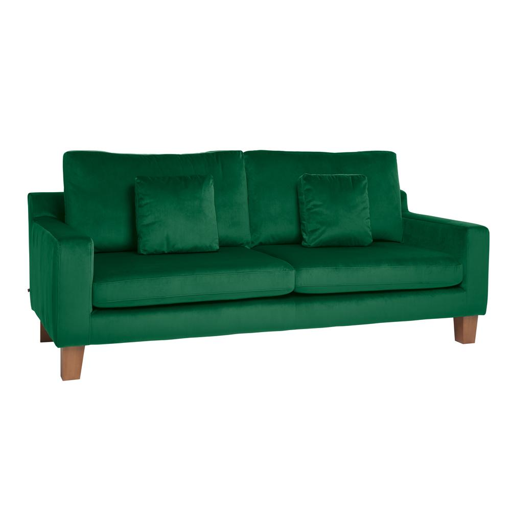 Ankara II three seater sofa alba velvet forest green
