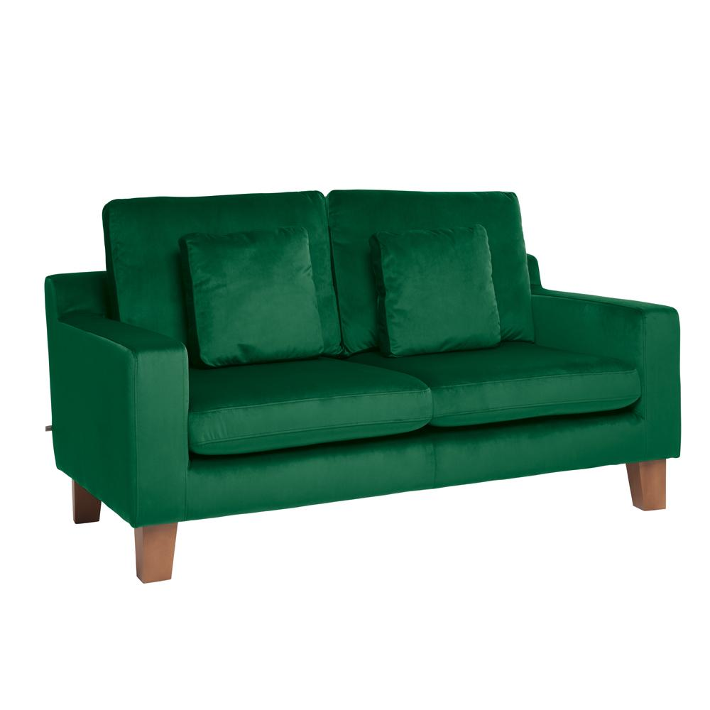 Ankara II two seater sofa alba velvet forest green
