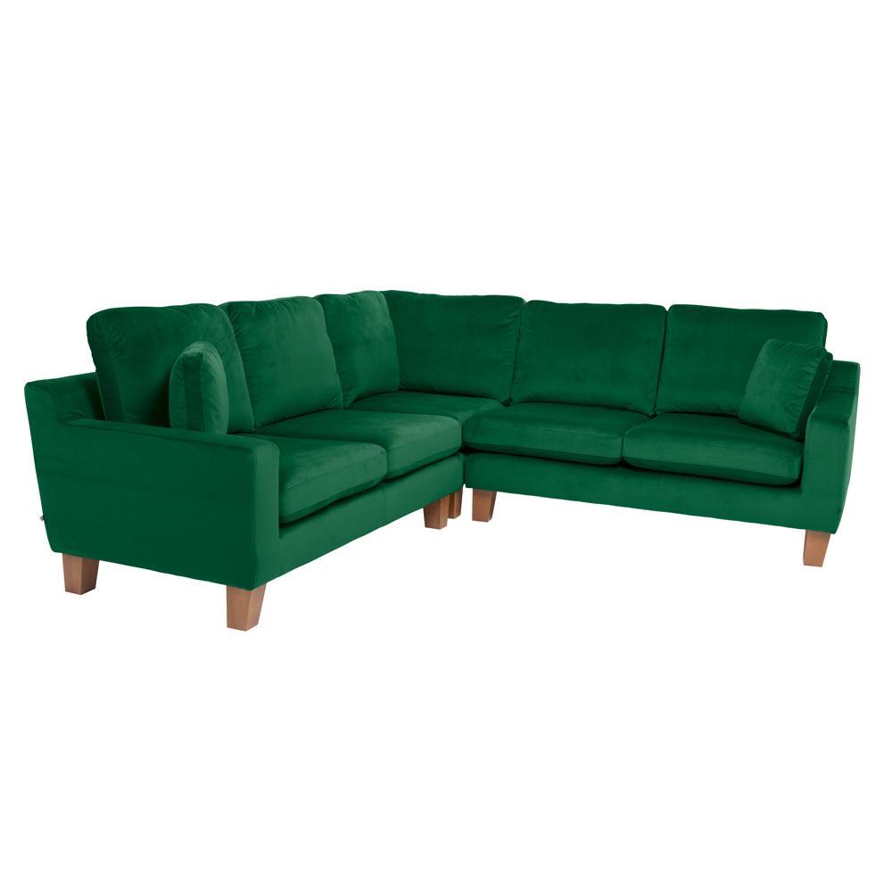Ankara II full corner sofa alba velvet forest green