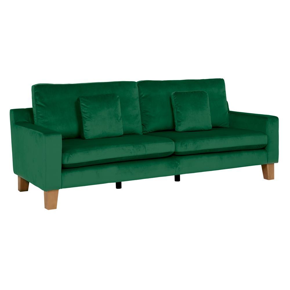 Ankara II four seater sofa alba velvet forest green