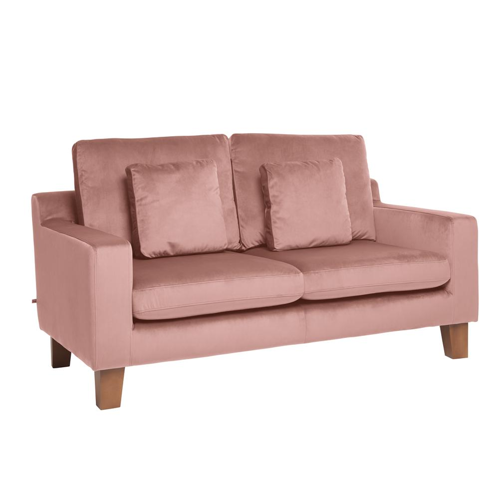 Ankara II two seater sofa alba velvet dusky pink