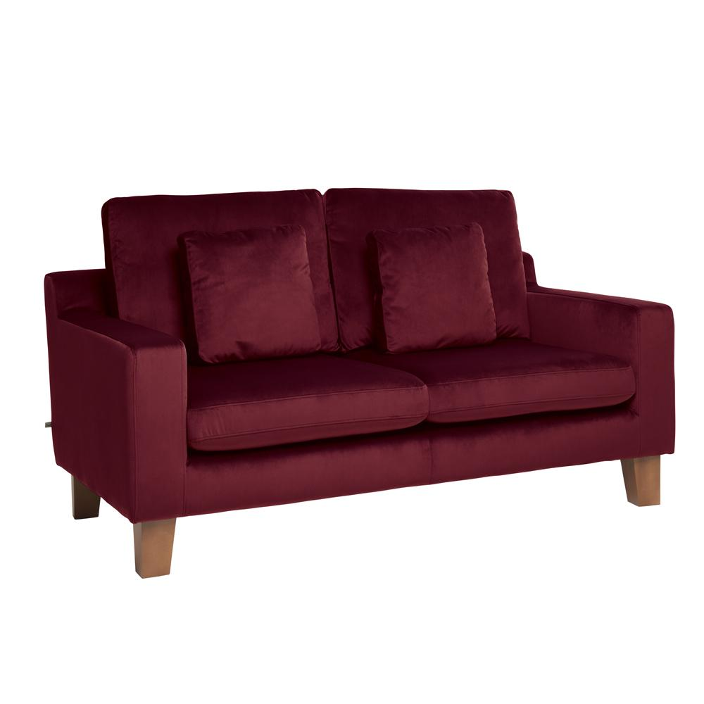Ankara II two seater sofa alba velvet burgundy