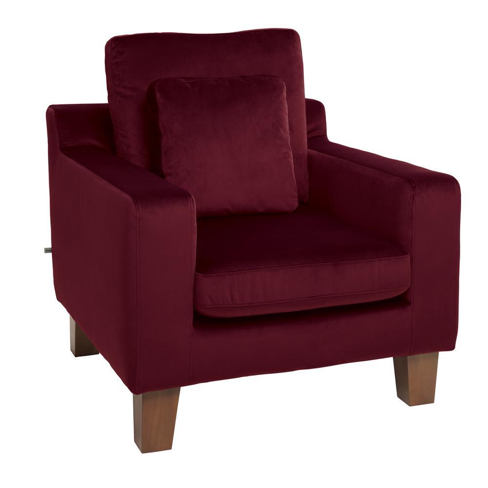 Ankara II armchair alba velvet burgundy