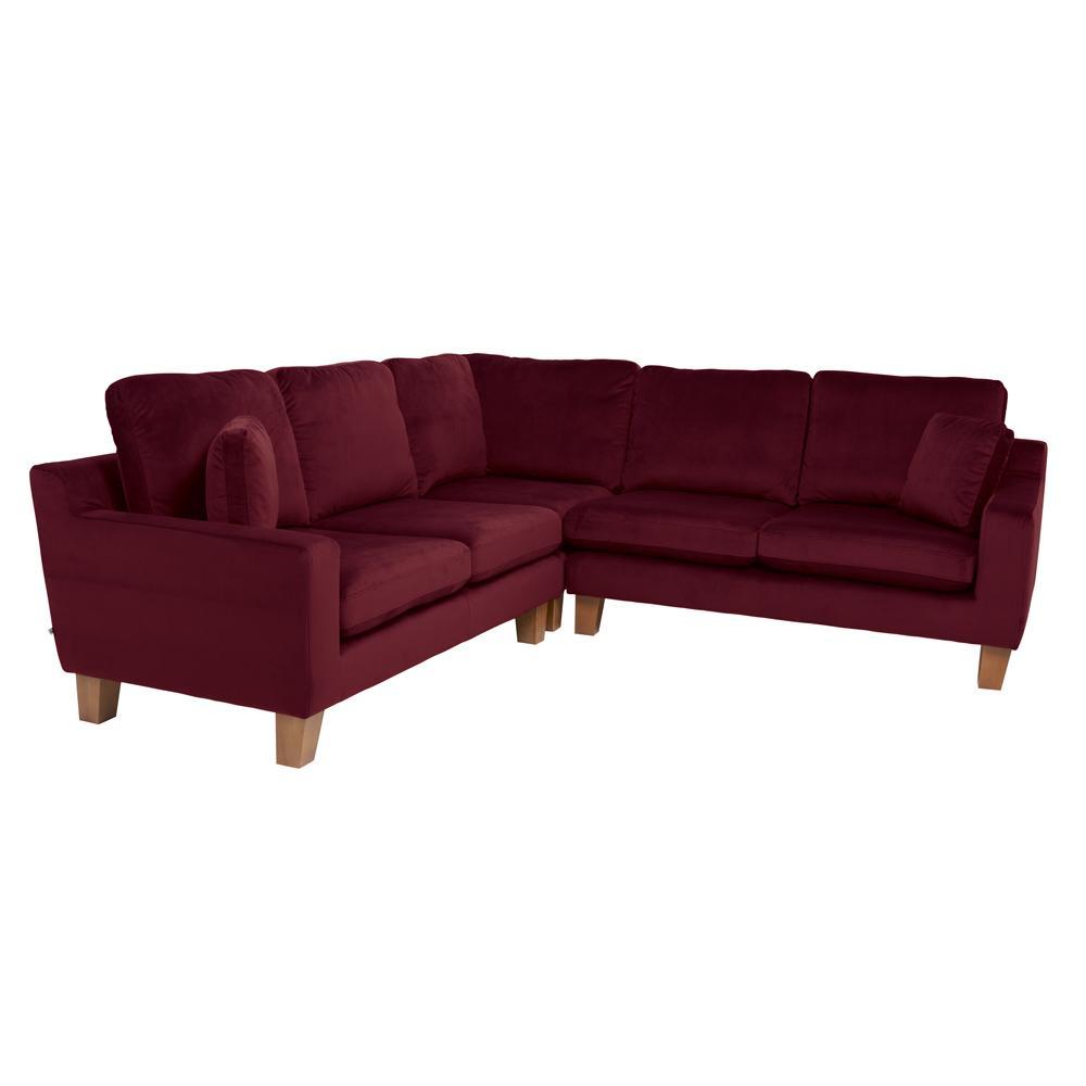 Ankara II full corner sofa alba velvet burgundy