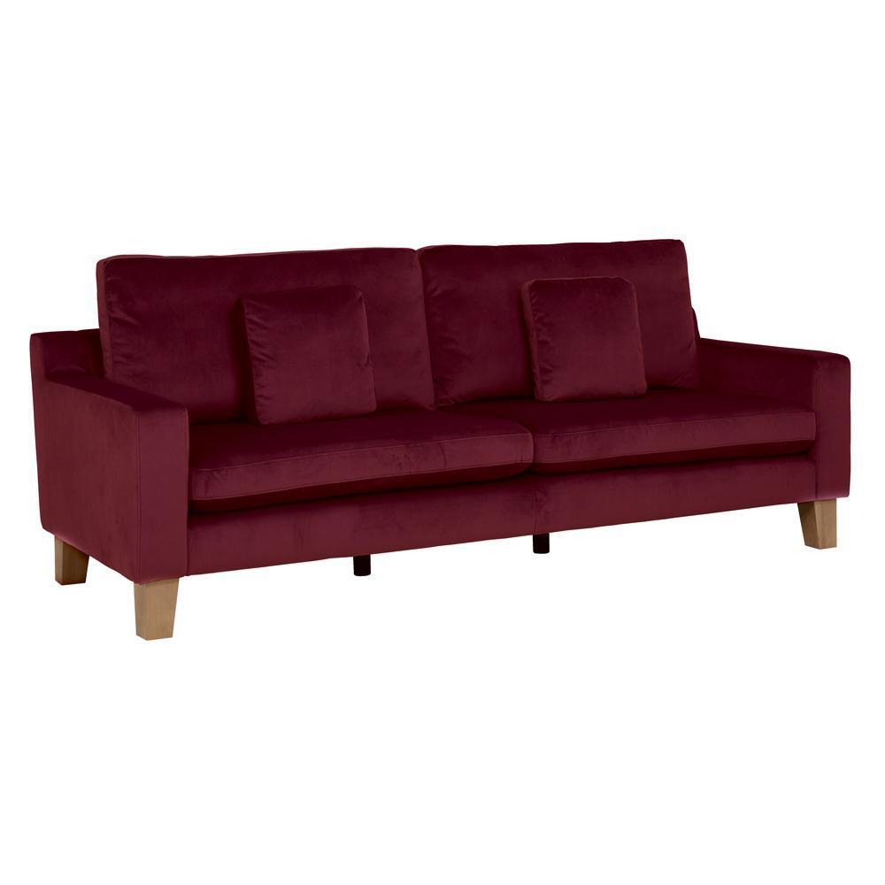 Ankara II four seater sofa alba velvet burgundy