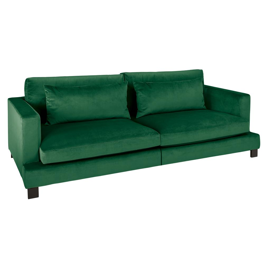 Lugano II four seater sofa alba velvet forest green