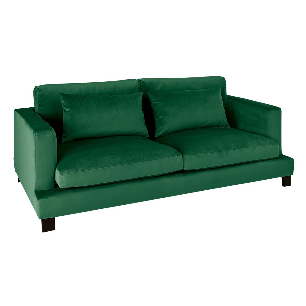 Lugano II three seater sofa alba velvet forest green
