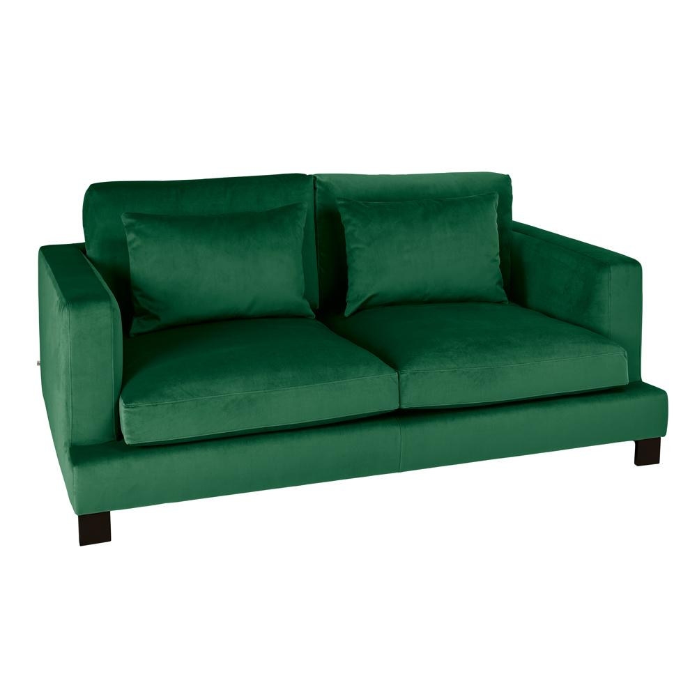 Lugano II two seater sofa alba velvet forest green