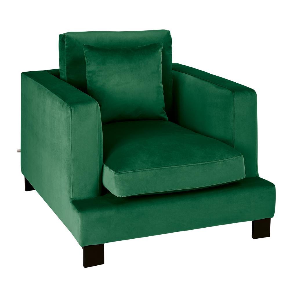 Lugano II armchair alba velvet forest green
