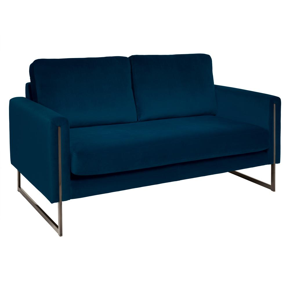 Bruges two seater sofa alba velvet blue