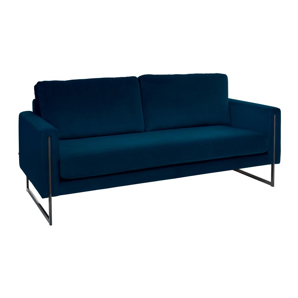 Bruges three seater sofa alba velvet blue