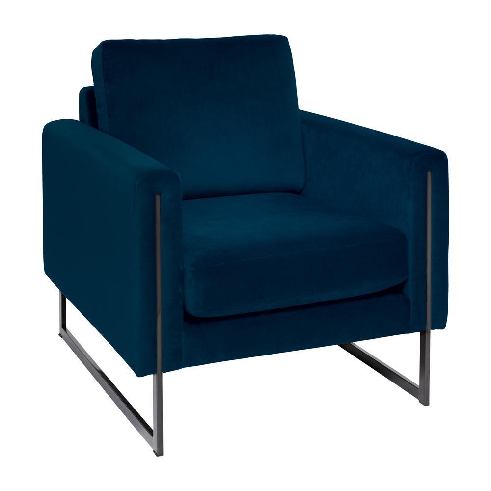 Bruges armchair alba velvet blue