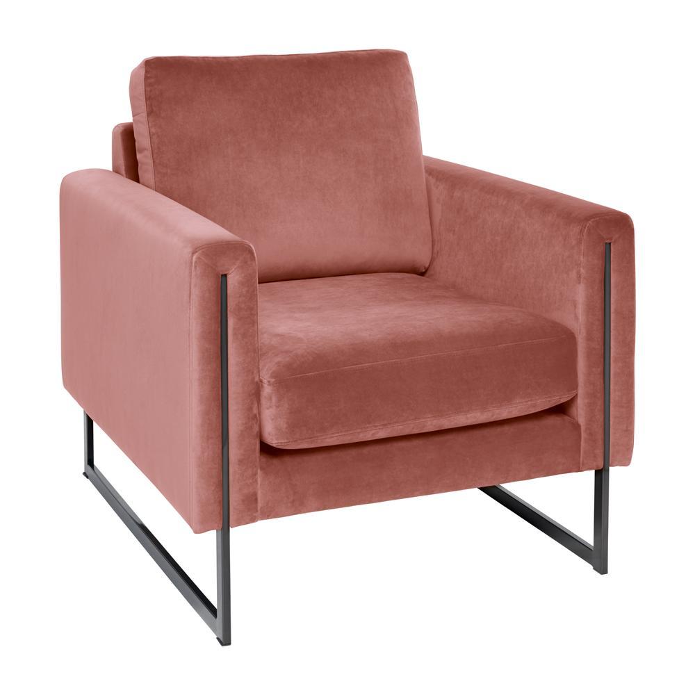 Bruges armchair alba velvet dusky pink