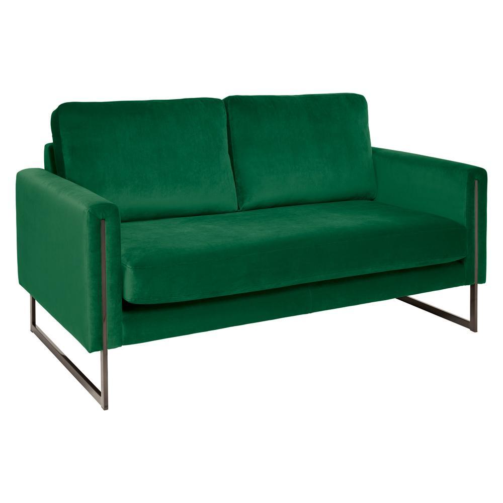 Bruges two seater sofa alba velvet forest green