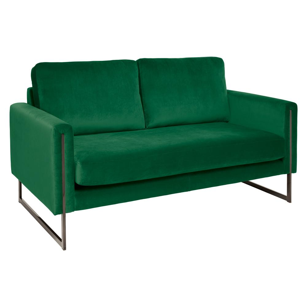 Bruges two seater sofa alba velvet forest green