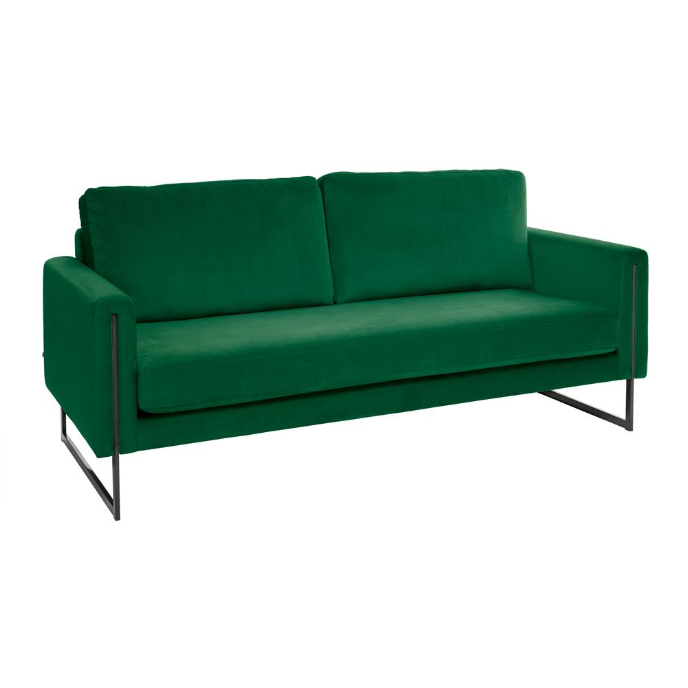 Bruges three seater sofa alba velvet forest green