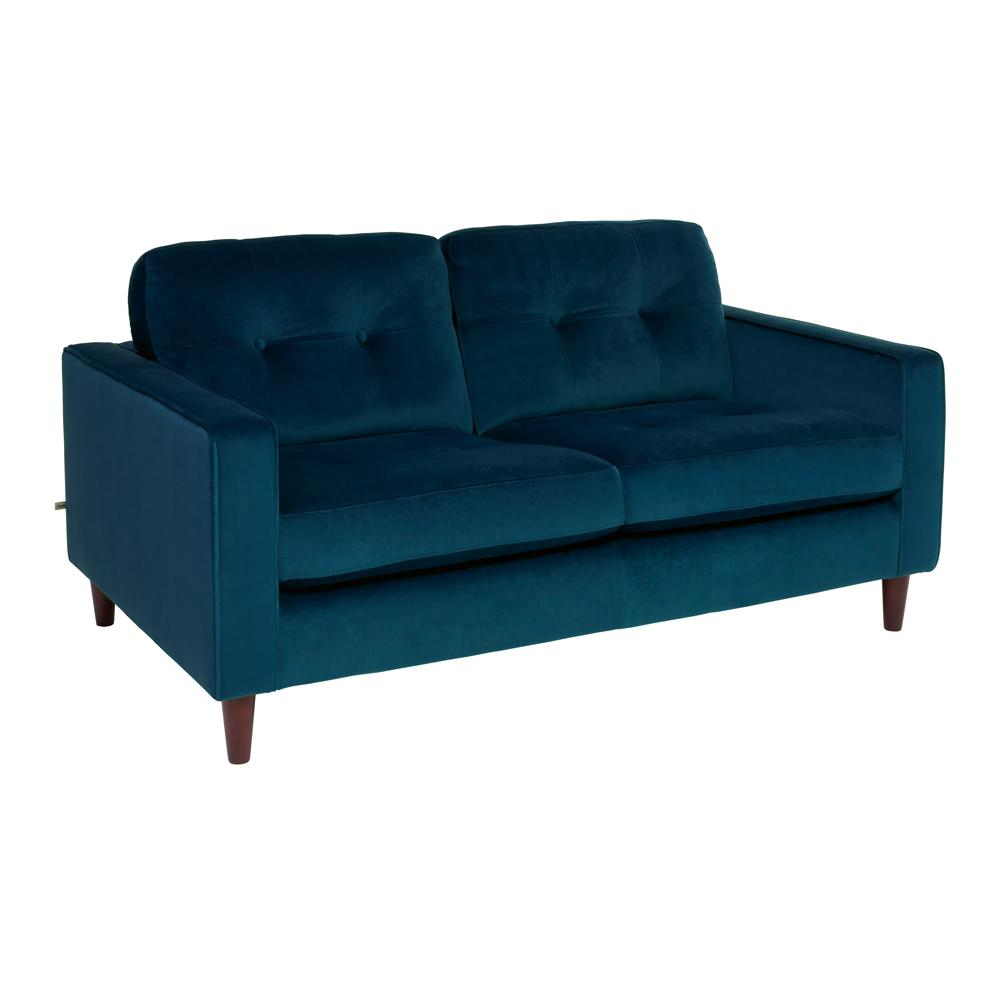 Bergen two seater sofa alba velvet blue
