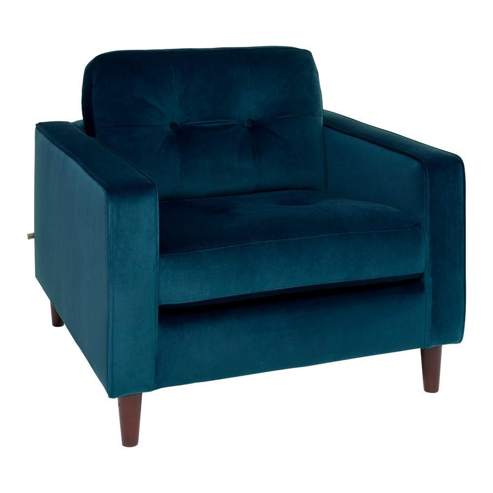 Bergen armchair alba velvet blue