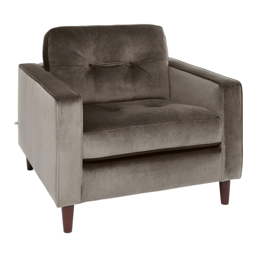 Bergen armchair alba velvet grey