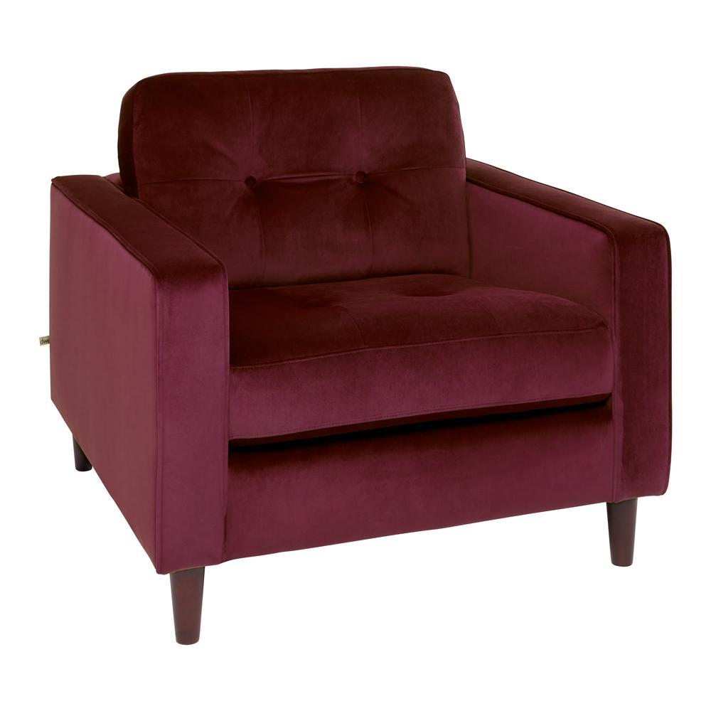 Bergen armchair alba velvet burgundy