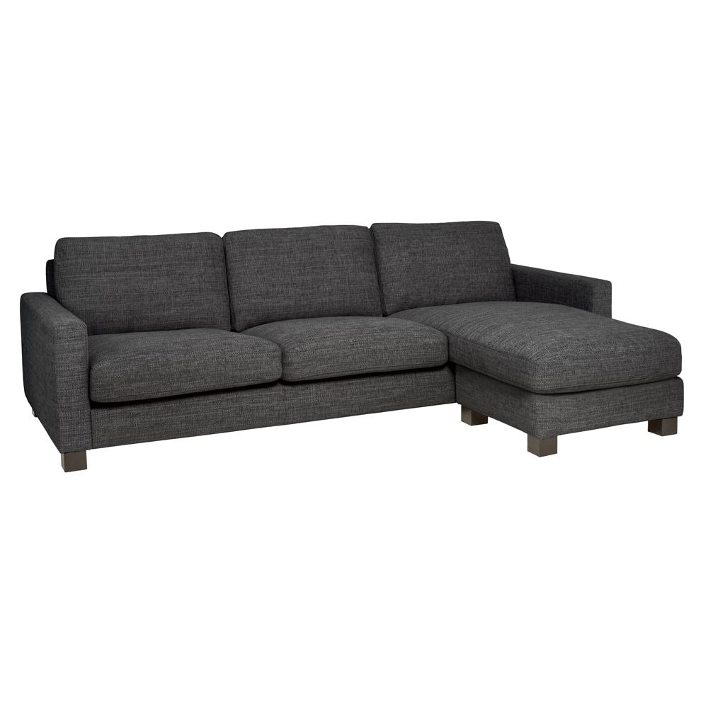 Monaco four seater lounger sofa callida charcoal