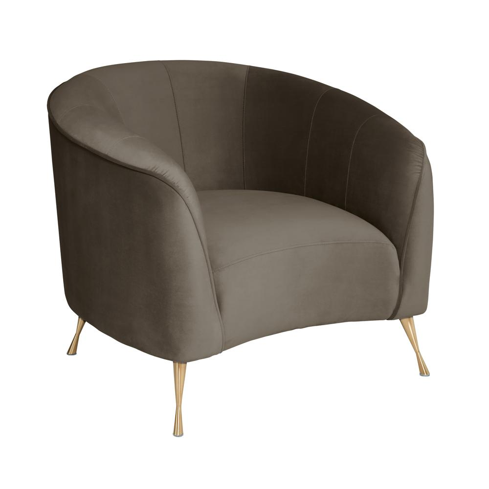 Bordeaux curve accent chair alba velvet grey