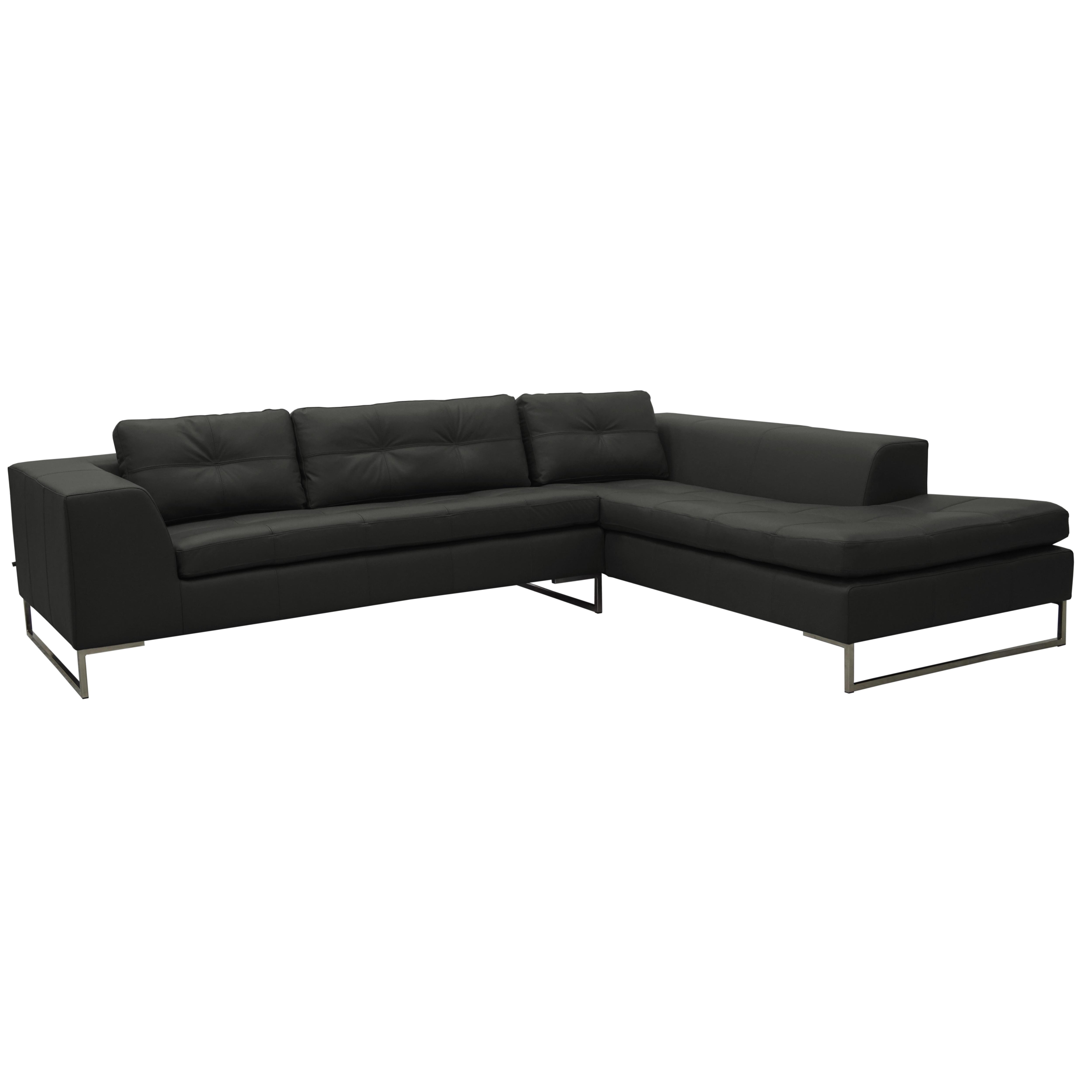 Toleda left hand facing arm corner sofa mollis leather dark green