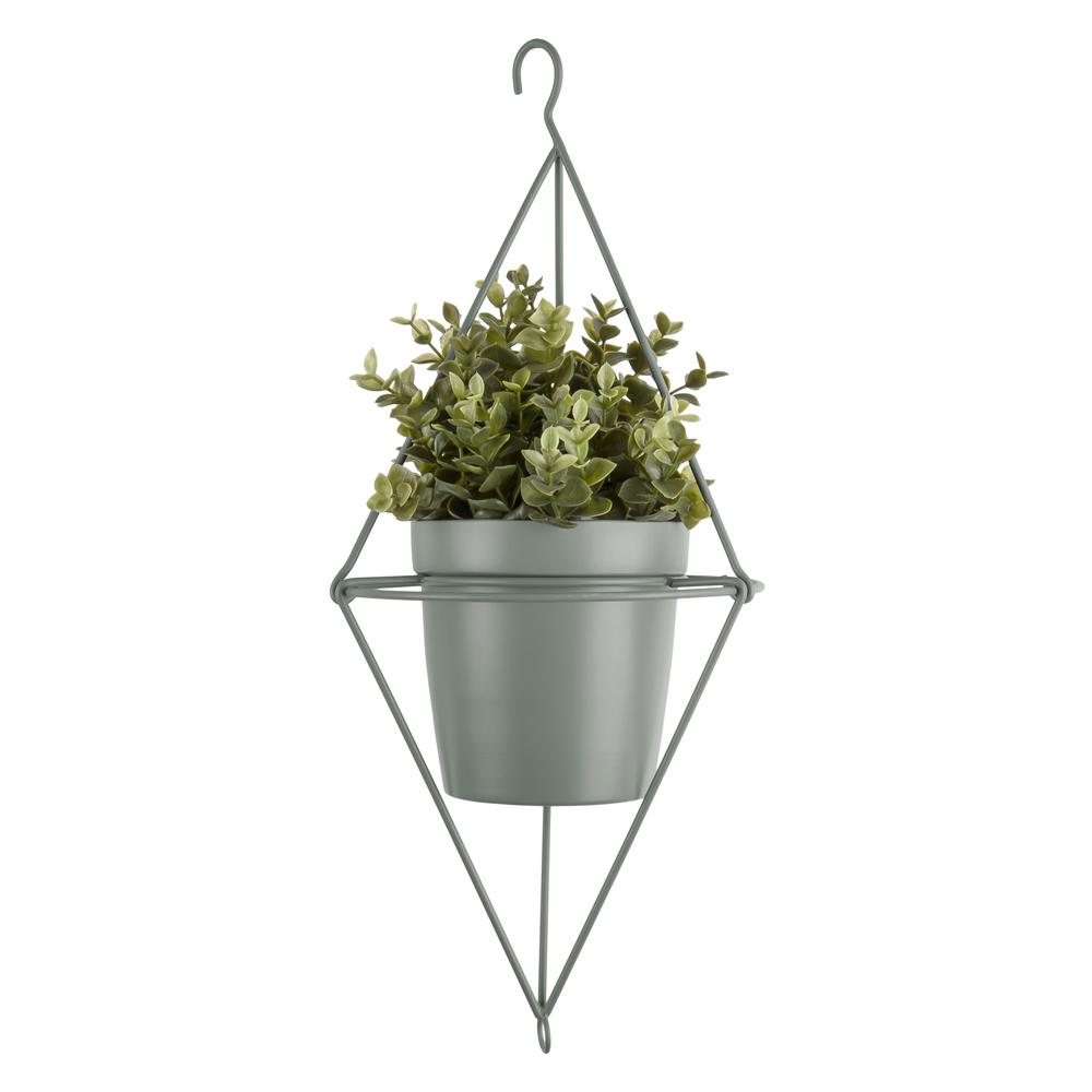 Pendere diamond hanging planter green