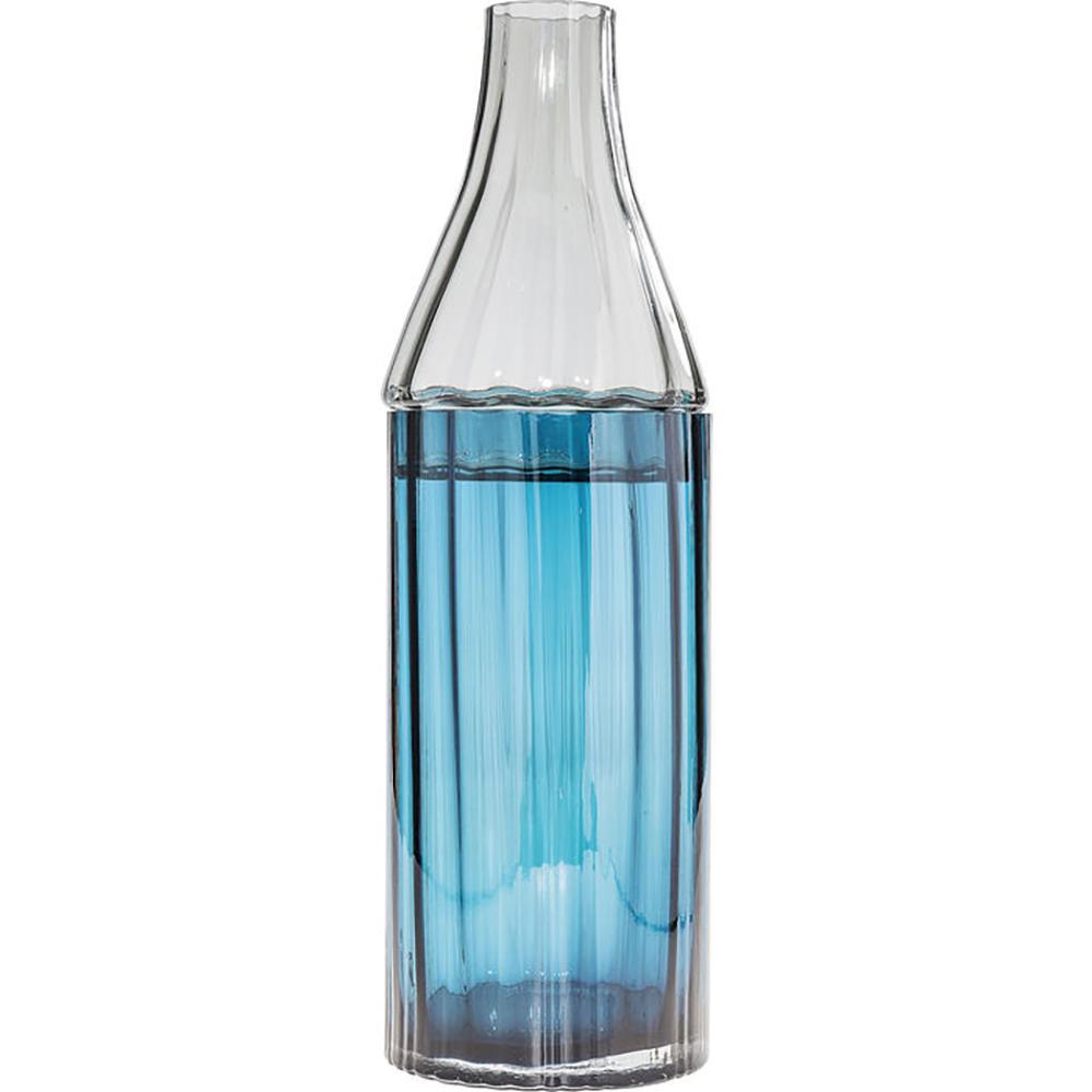 Bottiglia tall glass vase blue