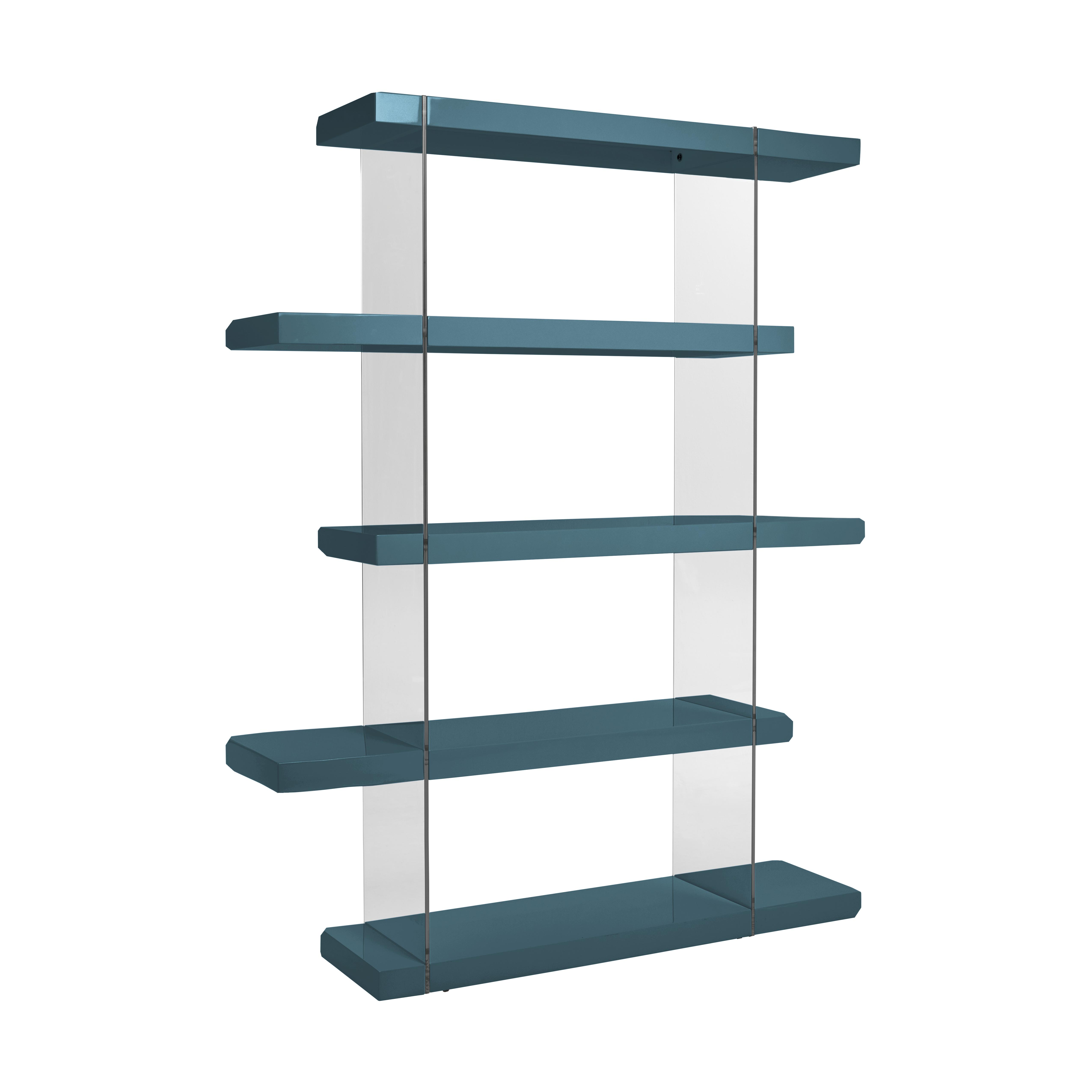 Sturado tall shelving teal gloss